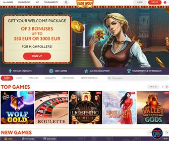 slotswolf casino screenshot