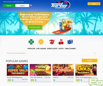 turbo casino screenshot